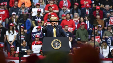 Donald Trump Holds A Campaign Rally In Colorado Springs