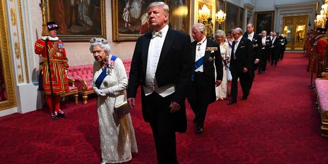 All the photos you need to see of Donald Trump's state banquet with the royal family