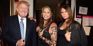 Aerosmith Steve Tyler Donald Trump Melania Trump