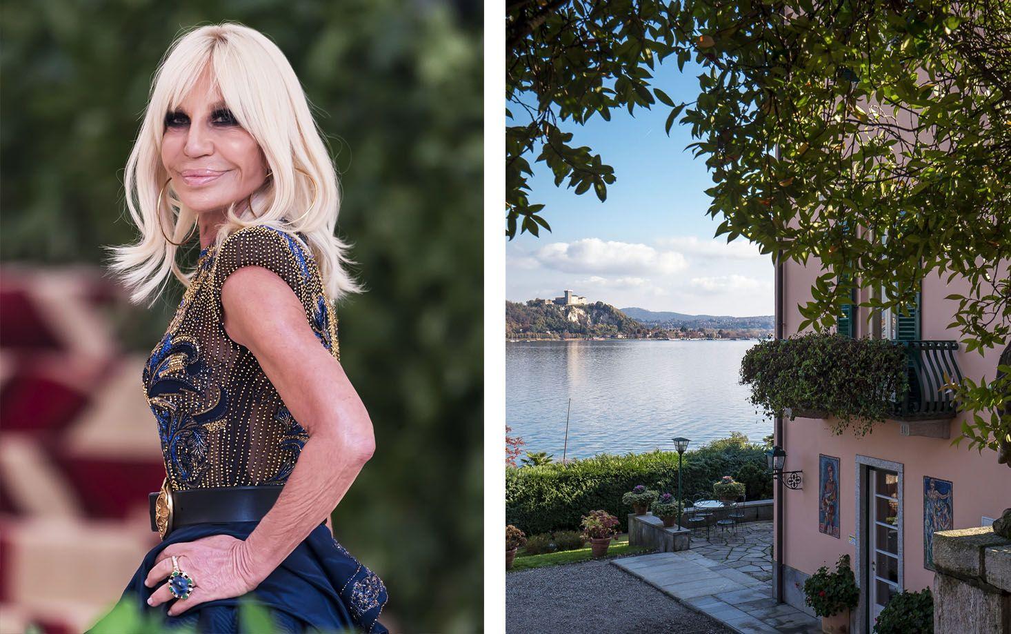 Inside Donatella Versace's New Italian Lakefront House