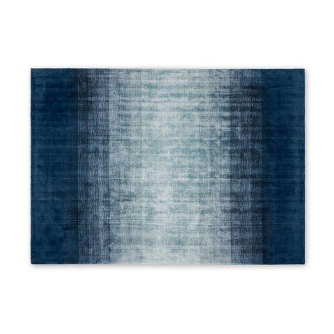 Tonos groot vloerkleed van viscose, 160 x 230cm, middernachtblauw