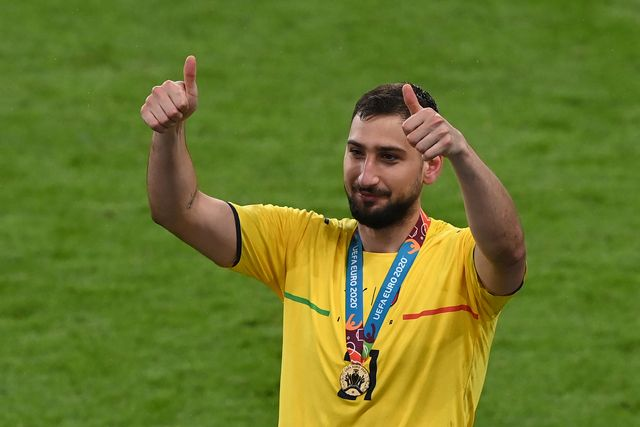 italys goalkeeper gianluigi donnarumma gestures after italy won the uefa euro 2020 final football match between italy and england at the wembley stadium in london on july 11, 2021 photo by facundo arrizabalaga  pool  afp photo by facundo arrizabalagapoolafp via getty images