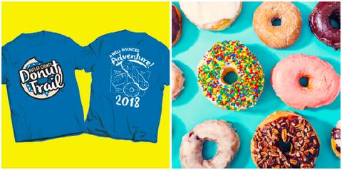 Doughnut, Bagel, Junk food, Food, Ciambella, Baked goods, Snack, Cuisine, Pastry, Font,