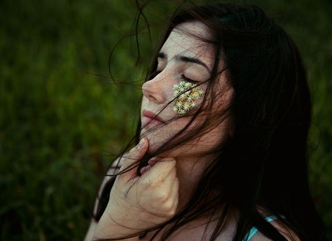 Face, Hair, Skin, Green, Nose, Head, Lip, Beauty, Eye, Cheek,