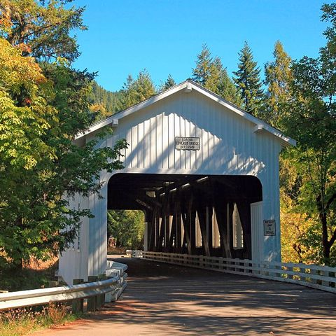 Dorena covered bridge near Cottage Grove Oregon