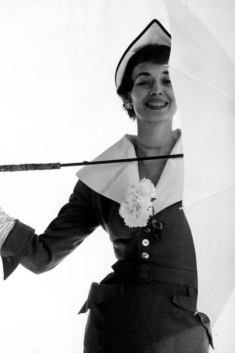 Dorian Leigh Models Hat & Suit