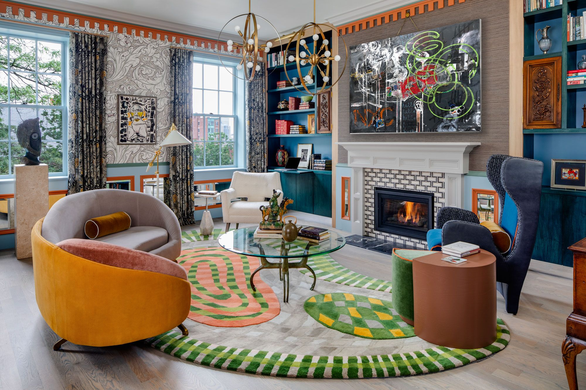 This Crazy, Bold Apartment Is Actually Full of Historic Details