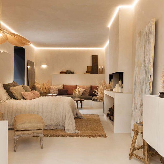 Dormitorio tonos neutros