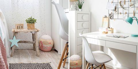 dormitorio adolescente en blanco y madera
