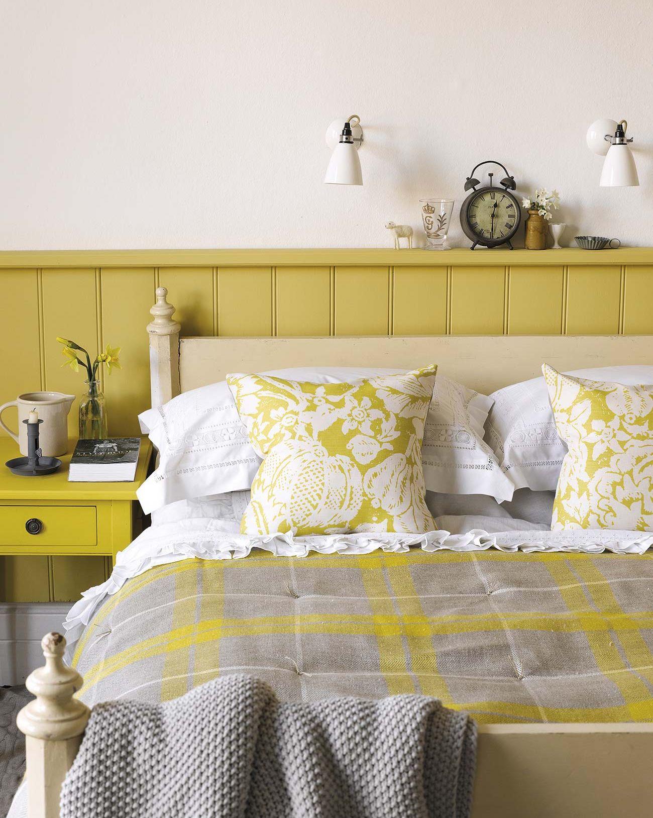 Copia el estilo: un dormitorio en amarillo y mostaza
