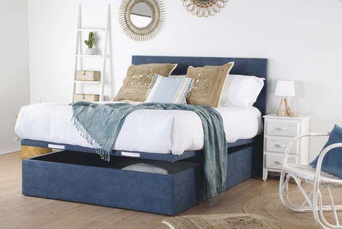 Orden en el dormitorio: cama con canapé abatible