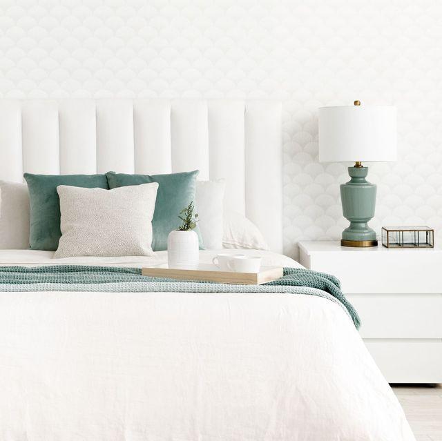 dormitorio decorado en blanco