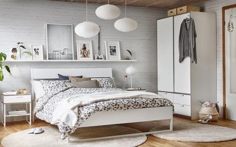 dormitorio con muebles de ikea