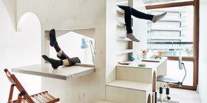 Dormitorio infantil abatible de diseño minimalista