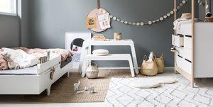 Dormitorio infantil de estilo boho chic
