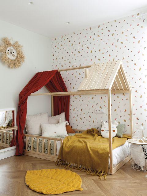 dormitorio infantil después cama casita