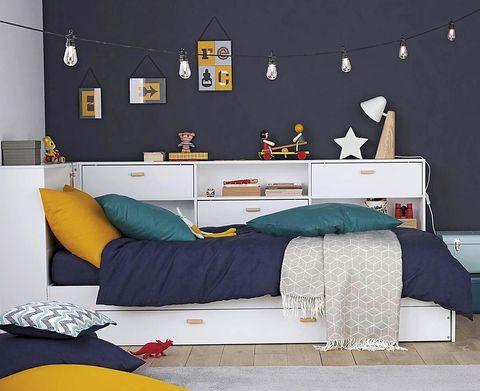 Dormitorios infantilescon espacio extra