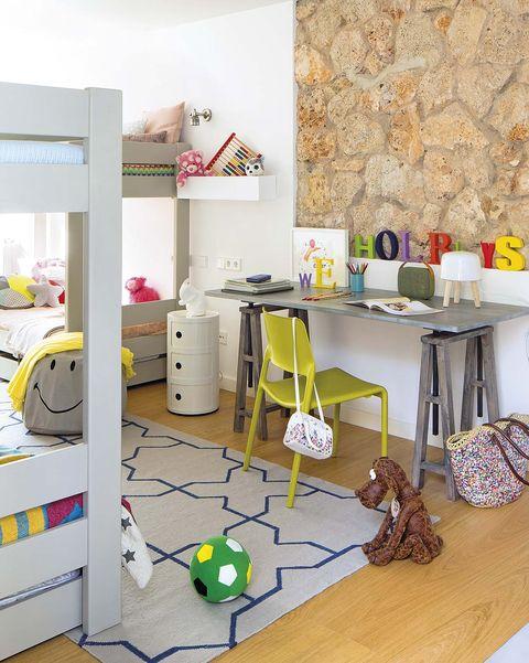escritorios infantiles y juveniles dormitorio con literas