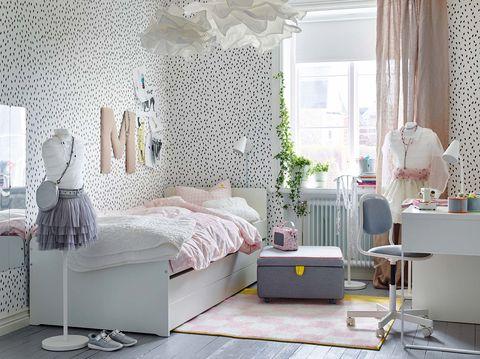 Ropa de cama y papel pintado