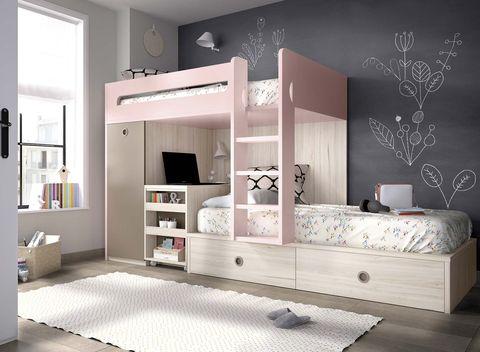 Dormitorios infantiles:Literas tipo tren