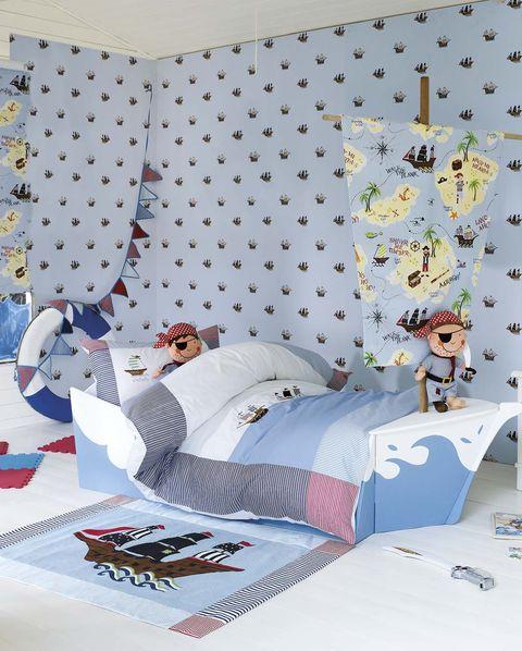 Dormitorio infantil: piratas