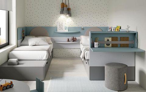 Dormitorio juvenil: Dos camas