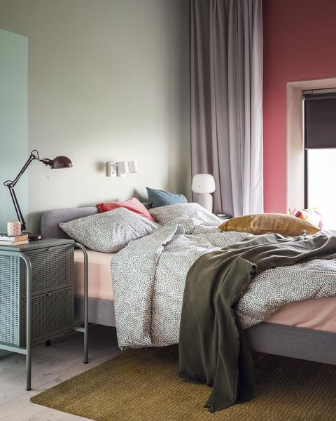 dormitorio moderno con colores