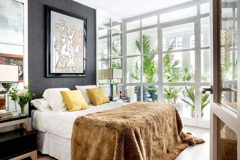 dormitorio con invernadero