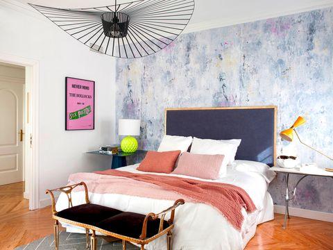 Dormitorio de Piluca Hueso, propietaria de Rue Vintage 74