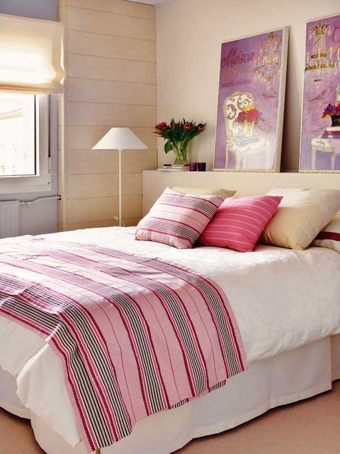 Bedroom, Bed, Bed sheet, Bedding, Furniture, Pink, Room, Bed frame, Pillow, Duvet cover,
