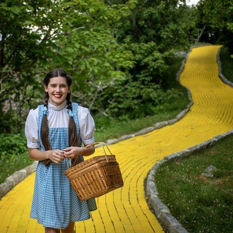 dorothy yellow brick road costume