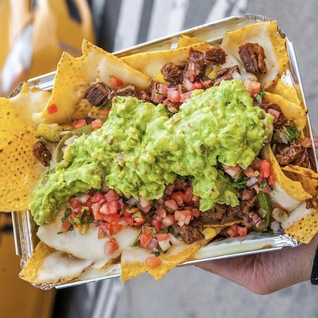 Dish, Food, Cuisine, Junk food, Ingredient, Fast food, Produce, Korean taco, Finger food, Nachos,
