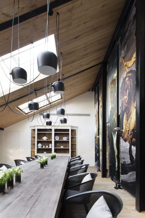 Ceiling, Room, Interior design, Building, House, Architecture, Wall, Loft, Floor, Design,