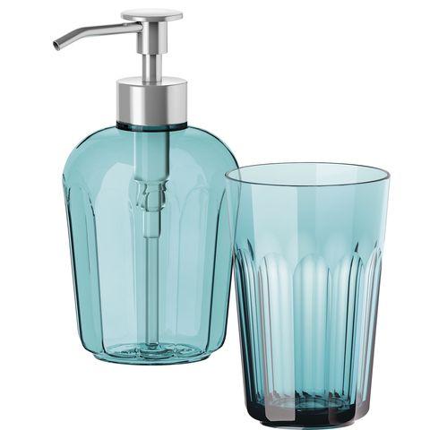Dosificador de jabón y vaso de Ikea