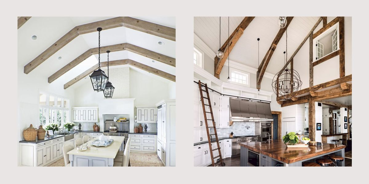 25 stunning double height kitchen ideas - How to decorate high walls with cathedral ceiling ...