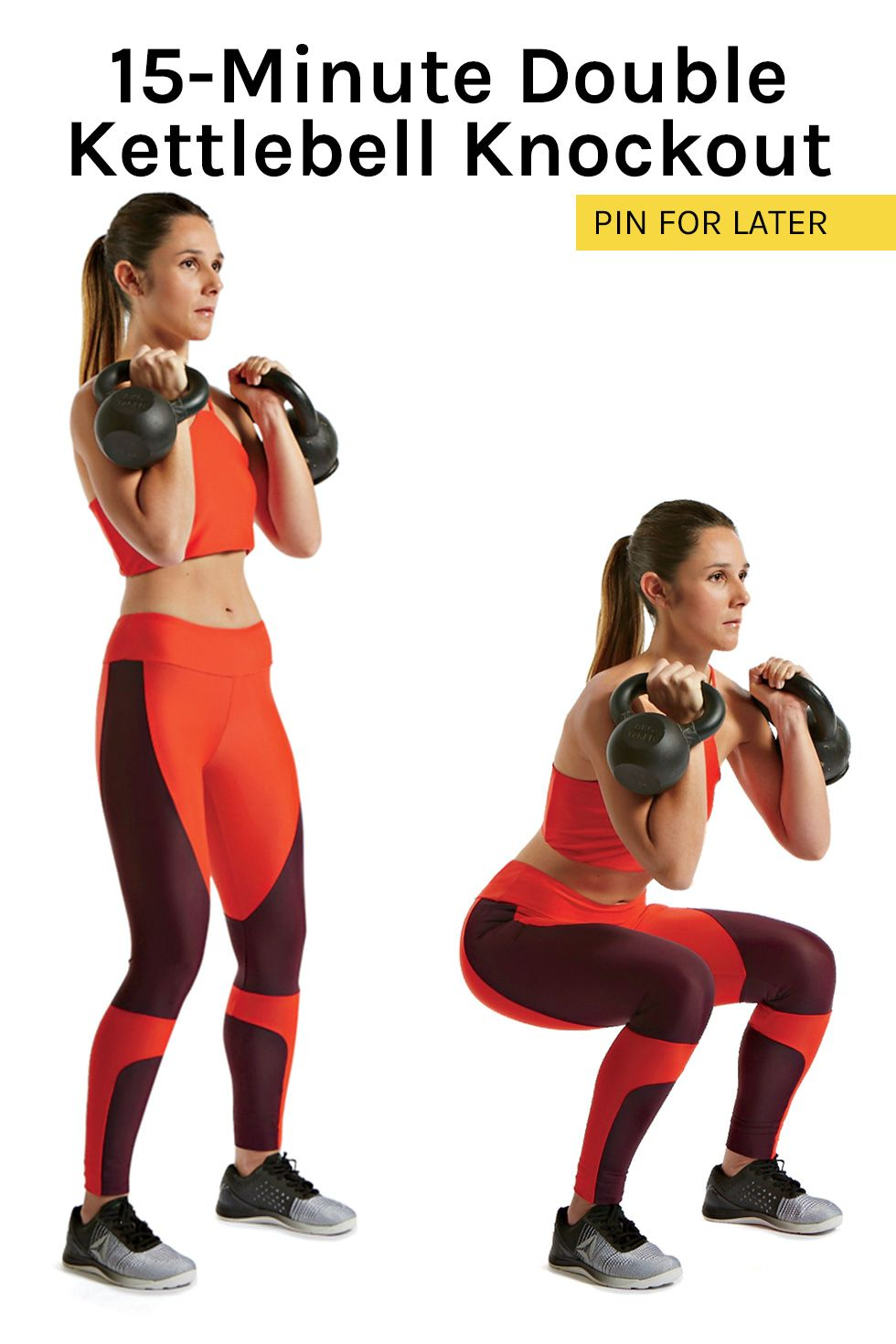 This 15-Minute Double Kettlebell Workout Will Sculpt Your Bod Fast