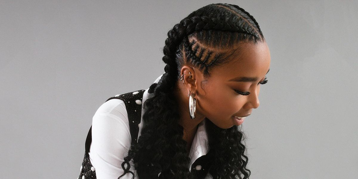 Double Stitch Braids With Curls Braided Hair Tutorial