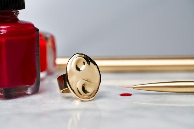 doublemoss arte  artist palette ring