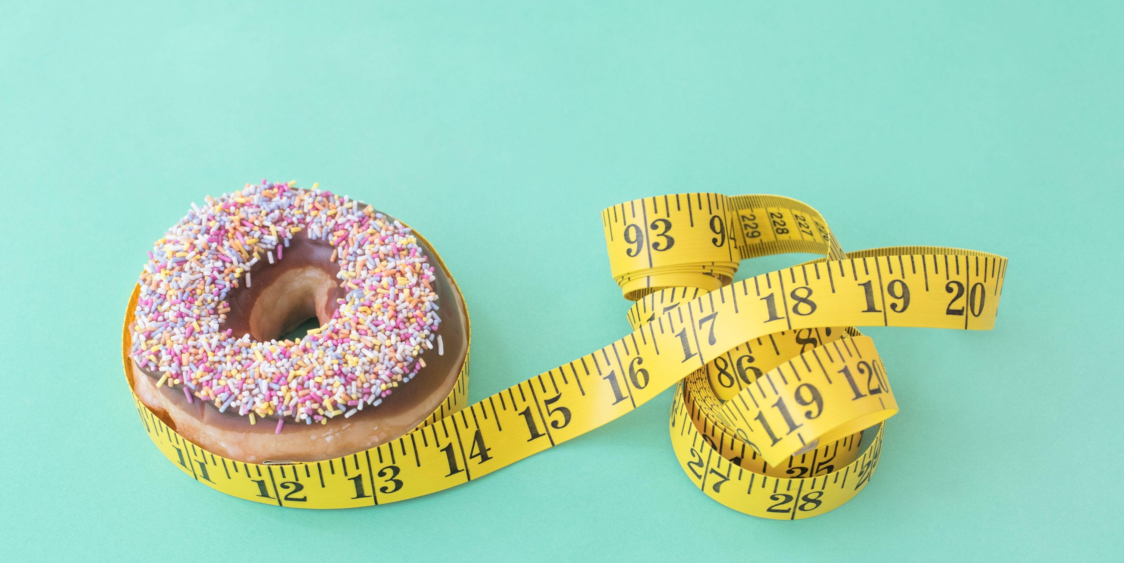 Doughnut and tape measure