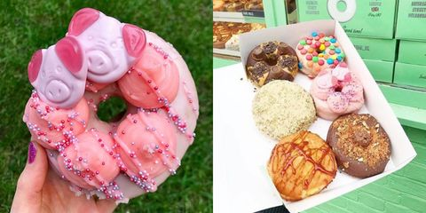 We're desperate to try these Percy Pig doughnuts