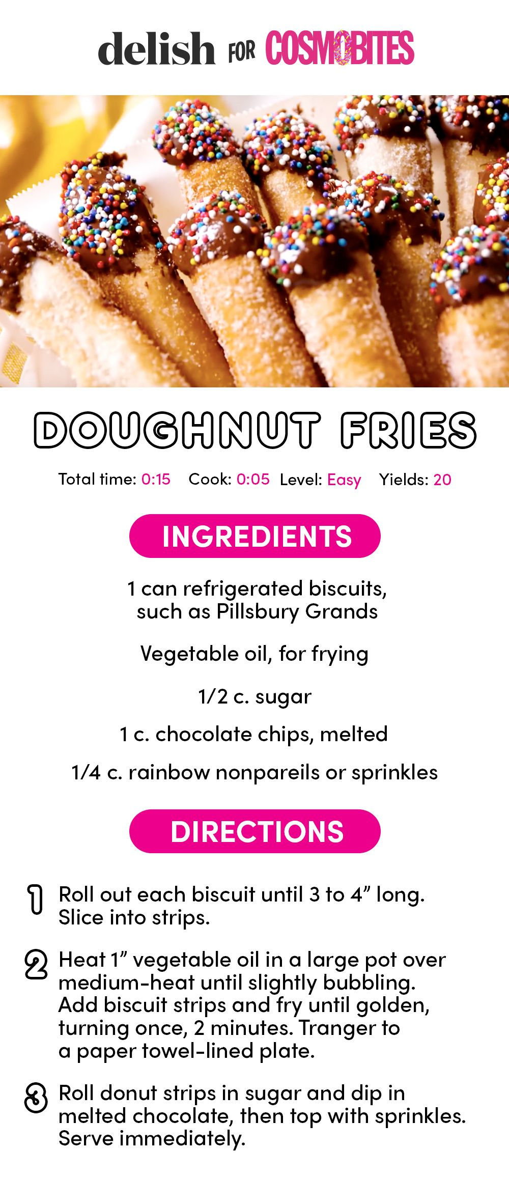Doughnut Fries Are the Cutest Sweet Snack