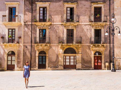 Facade, Door, Street fashion, Arch, Apartment, Cobblestone, Walking, Balcony,