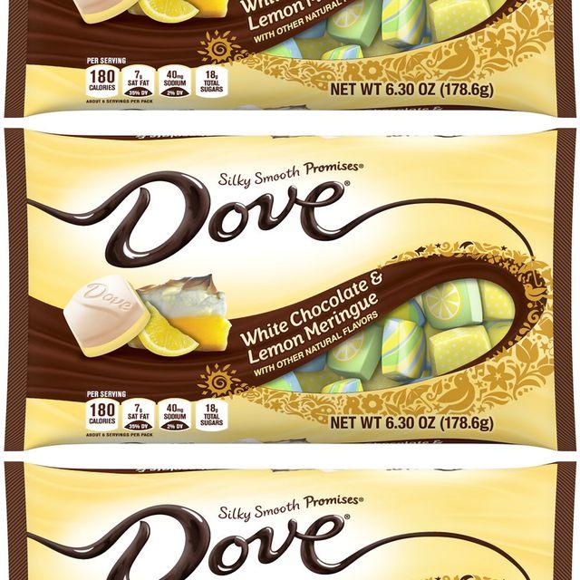 dove white chocolate  lemon meringue easter chocolates