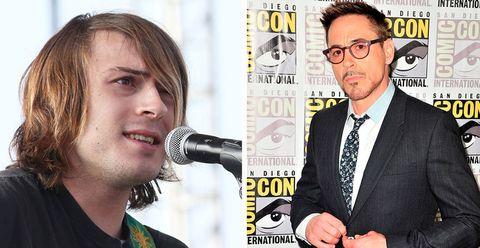 Indio Falconer y Robert Downey Jr.