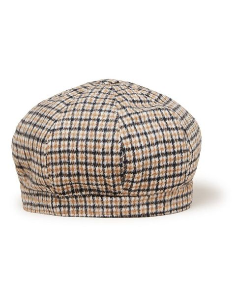 Clothing, Cap, Beige, Headgear, Fashion accessory, Plaid, Hat, Beanie,