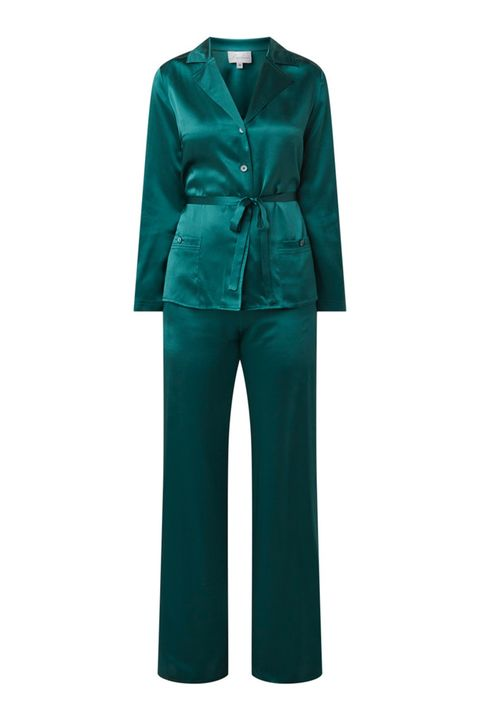 Clothing, Turquoise, Green, Outerwear, Sleeve, Teal, Suit, Formal wear, Trousers, Rain suit,