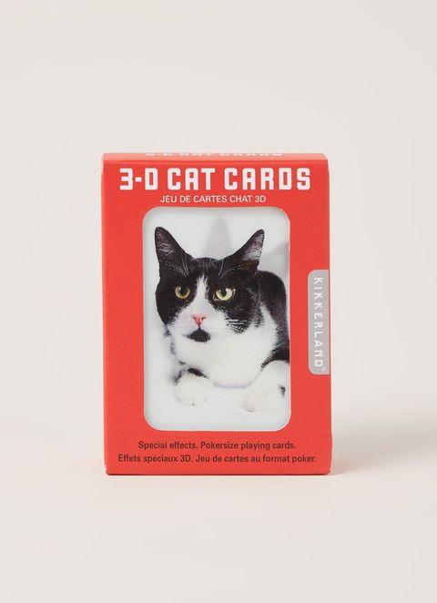 kikkerland 3d katten kaartspel