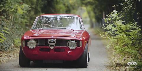 Land vehicle, Vehicle, Car, Alfa romeo 105 series coupes, Regularity rally, Classic car, Alfa romeo, Coupé, Sedan, Alfa romeo gta,