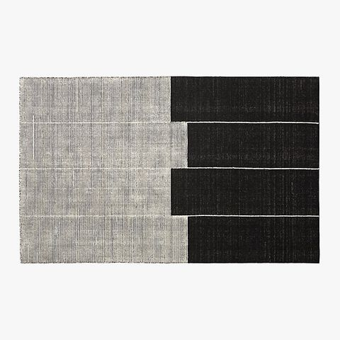 cb2 area rug   elle decor