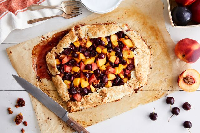 mixed stone fruit galette
